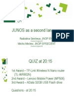 JunOS as a Second Language