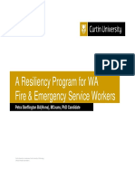 A Resiliency Program for Wa Fire & Emergency Service Workers