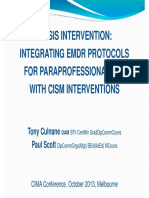 EMDR for Paraprofessional Use With Cism Interventions