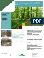Améliorer un réseau de sentiers en forêt périurbaine