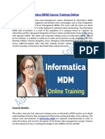Informatica MDM Certification Course Training Online