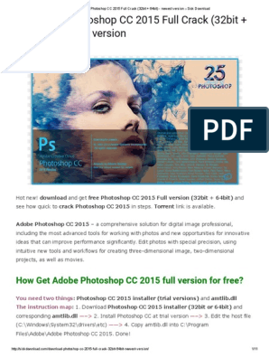 By Photo Congress || Adobe Photoshop Cc 2015 Free Download Zip File