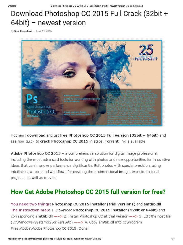 download photoshop cc 2014 full crack 32 bit