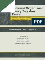 Dimensi Organisasi Marry Zey Dan Ferrel