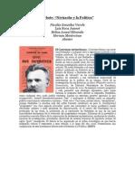 """""""Debate sobre Nietzsche y la Política"""" por Nicolás González Varela"""