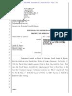 USA v Arpaio #29 Arpaio Objection to USA Lodge OSC