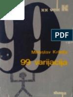 m Krleza 99 Varijacija 1972
