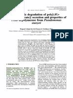 Enzymatic Degradation PHB (TI)