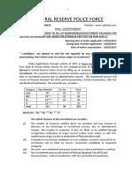 Notification CRPF ASI Steno Posts