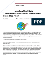 Wharton's Jagmohan Singh Raju_ 'Consumers in Rural Areas Care for Value More Than Price' - Knowledge@Wharton