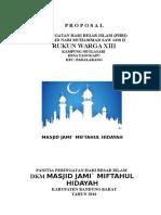 Proposal Maulid Nabi 2016
