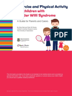 Exercise and Physical Activity for Children With Prader Willi