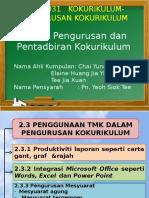 Bab 2- Pengurusan Dan Pentadbiran Kokurikulum (2.3- Penggunaan TMK Dalam Pengurusan Kokurikulum)