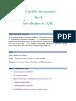 Tqm 1st Unit