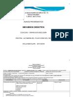 Secuencia Didactica Ciencias i Mayo Biologia 2015-2016