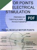 Facial nerve stimulation points