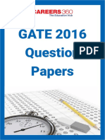GATE 2016 Question Papers