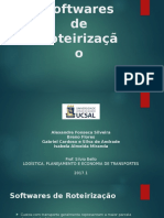 Softwares de Roteirização Resumo e questões