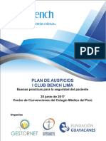 Plan de Auspicios Club Bench 28 de Junio