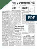 Cronache e Commenti Gennaio 1971