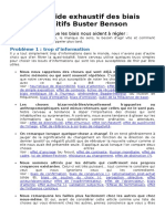 Petit Guide Exhaustif Des Biais Cognitifs BusterBenson