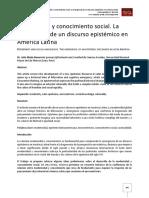 Julio Mejía Navarrete - Modernidad y Conocimiento Social. La Emergencia de Un Discurso Epistémico en América Latina