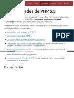Tutorial Las Novedades de Php 55