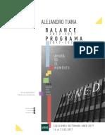 Programa Alejandro Tiana Ferrer