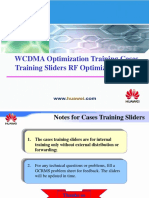 WCDMA RNO Cases Training Sliders (RF Optimization Part)-20060908-A-1.0
