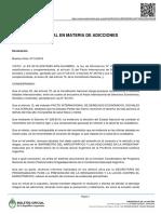 Argentina - EMERGENCIA NACIONAL EN MATERIA DE ADICCIONES Decreto 1249/2016
