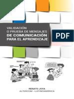 Validación o prueba de mensajes de comunicación para el aprendizaje (guía)