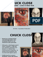 chuck close   grid drawing
