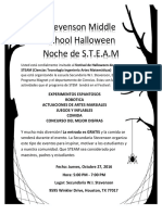halloween steam night flyer spanish
