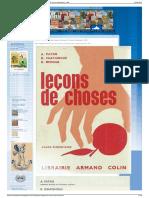 Payan, Chatignoux, Mercier, Leçons de Chose