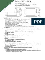 Instrucoes de MP4 Player