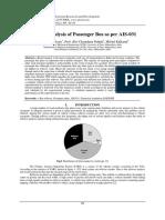 Rollover Analysis of Passenger Bus as Per AIS-031