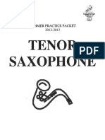 Summer Practice Packet 12-13 Tenor Sax