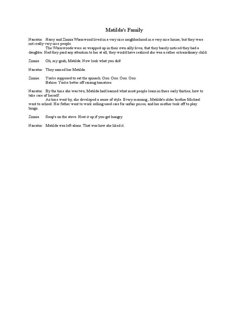 Matilda Movie Transcript
