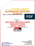 Colour Coated Aluminium Roofing Sheets, Types, Prices in Kerala