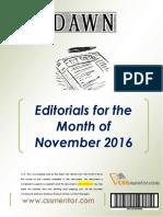 DAWN Editorials - November 2016