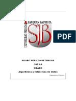 Silabo Por Competencias Algoritmica y Estructura de Datos