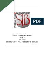 Silabo Por Competencias Desarrollo de Aplicaciones Moviles Electivo 2016 II