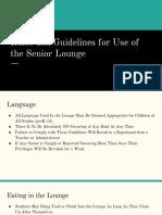 senior lounge presentation