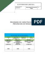 Programa de Capacitacion en Prevencion de Riesgos