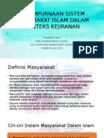 Kesempurnaan Sistem Masyarakat Islam Dalam Konteks Kejiranan