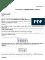 Tutorial Surpac 6.4 Geological Database – (1) Persiapan Membuat Database