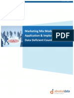 Marketing Mix Modeling