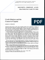 Credit Markets and the Control of Capital - Joseph E. Stiglitz