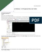Tutorial Surpac 6.4 Geological Database – (2) Pengaturan Menu Dan Toolbar