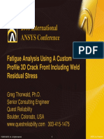 2008 Int ANSYS Conf Fatigue Analysis Custom Crack
